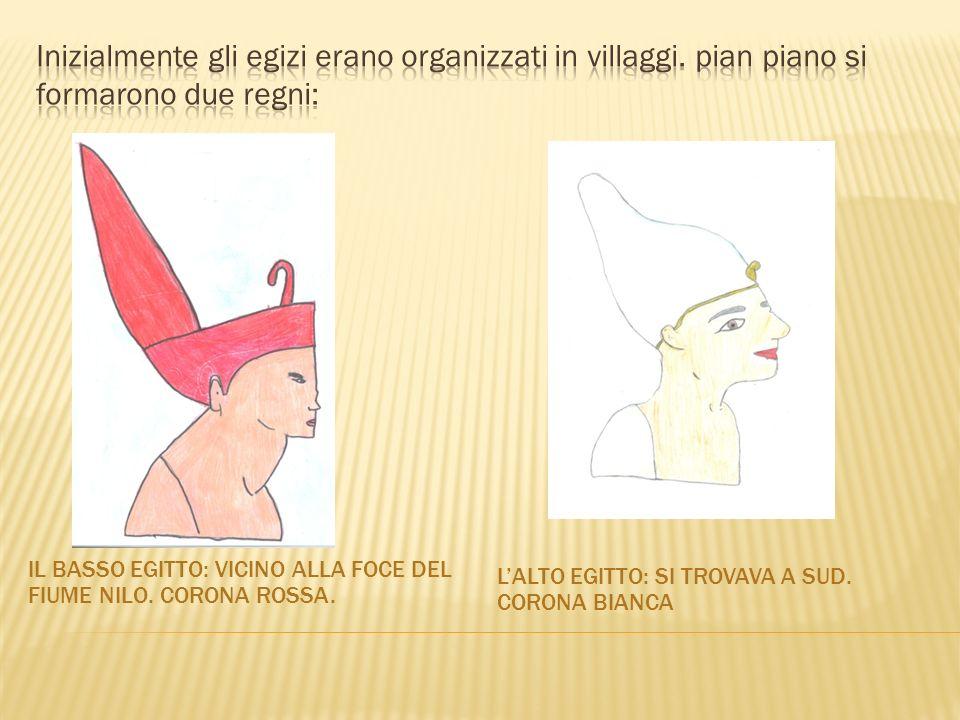 Inizialmente gli egizi erano organizzati in villaggi