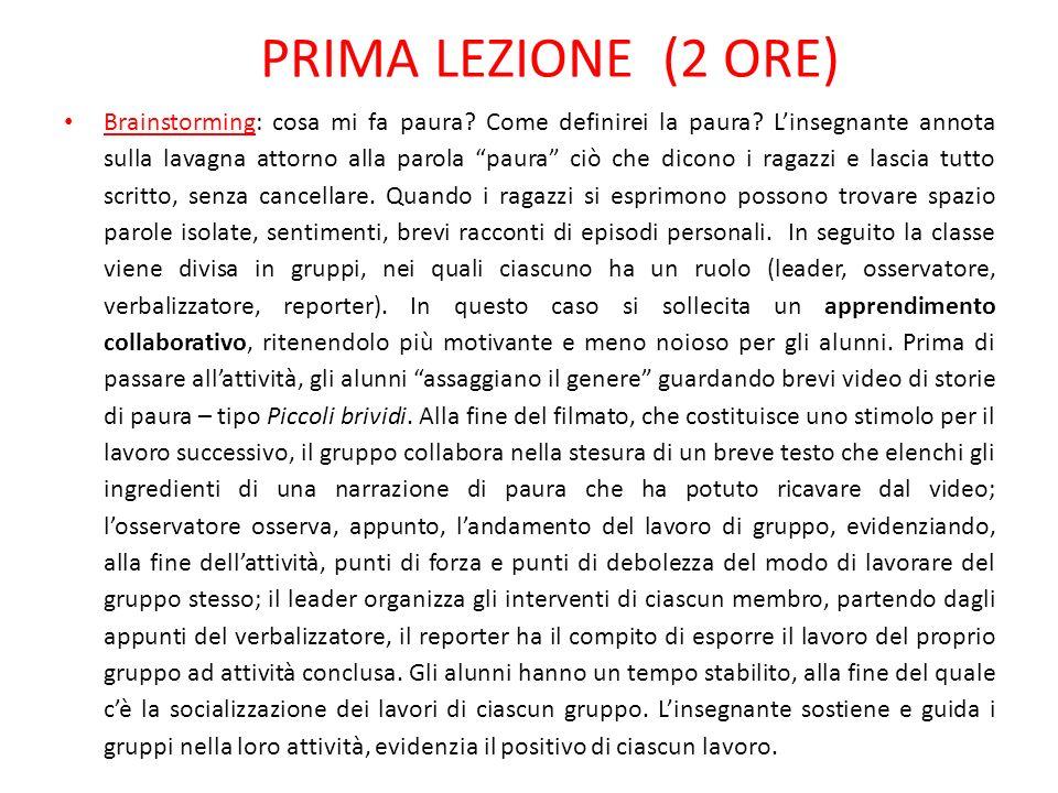 PRIMA LEZIONE (2 ORE)