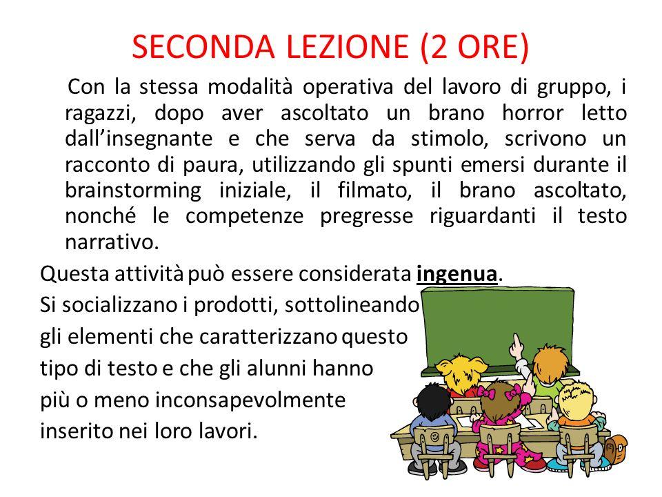 SECONDA LEZIONE (2 ORE)