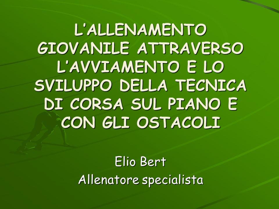 Elio Bert Allenatore specialista