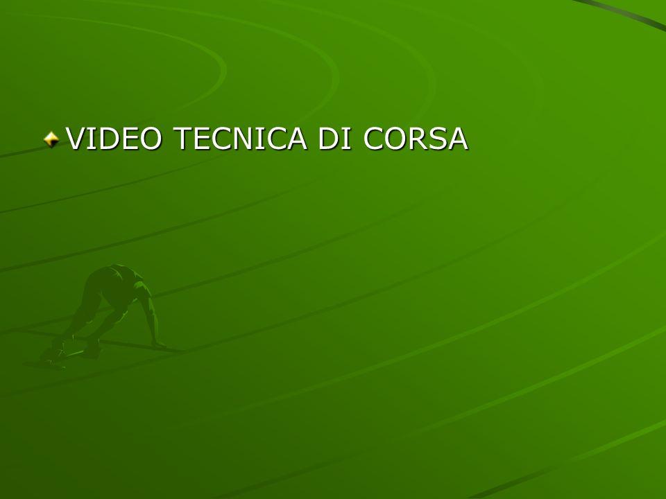 VIDEO TECNICA DI CORSA