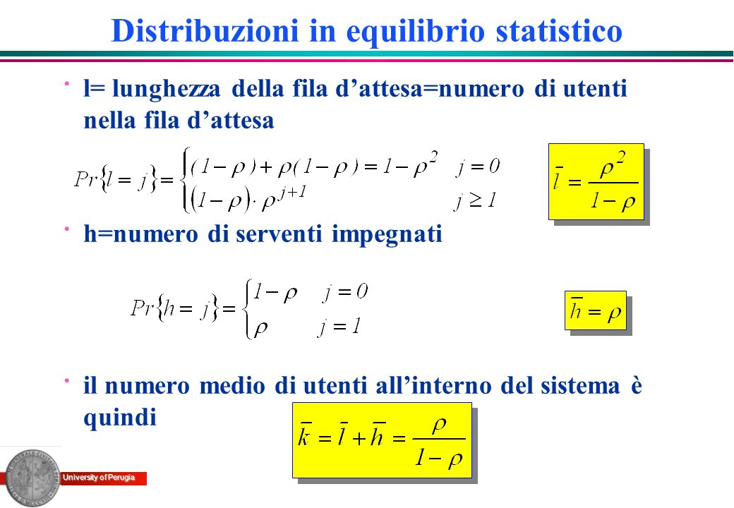 Distribuzioni in equilibrio statistico