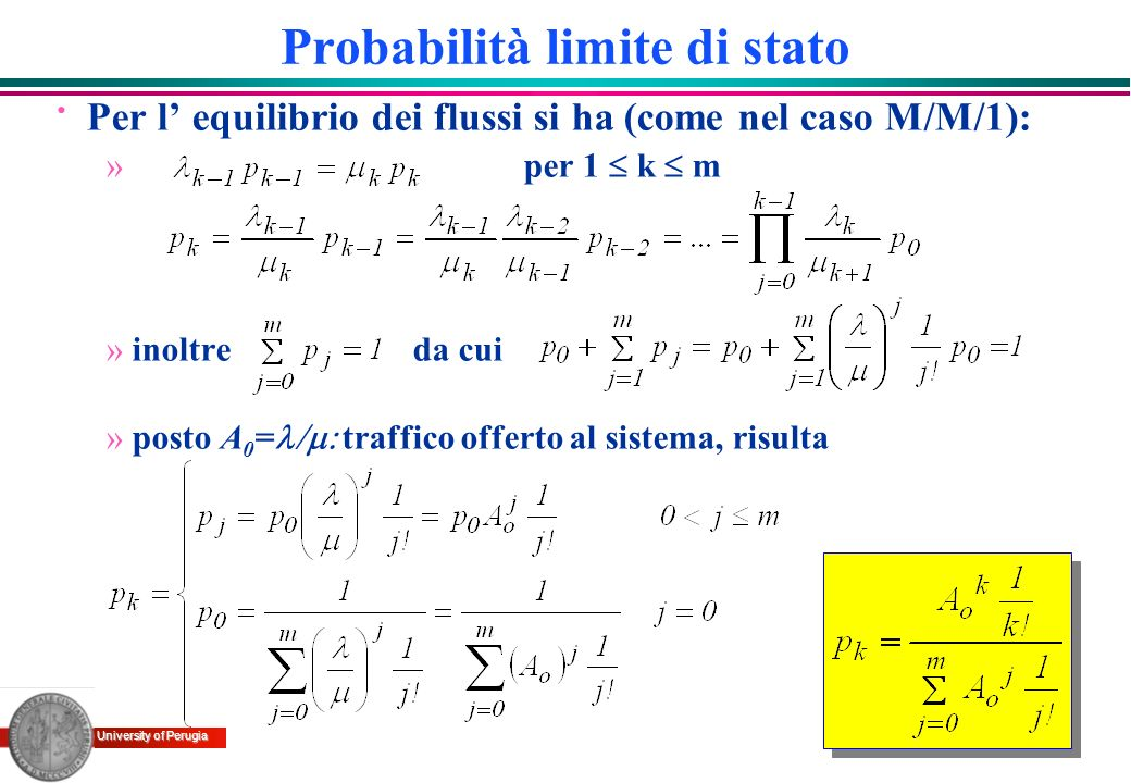 Probabilità limite di stato