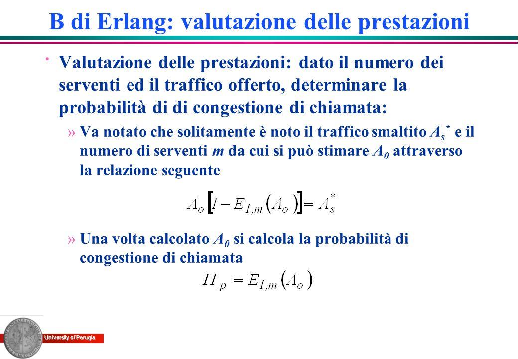 B di Erlang: valutazione delle prestazioni