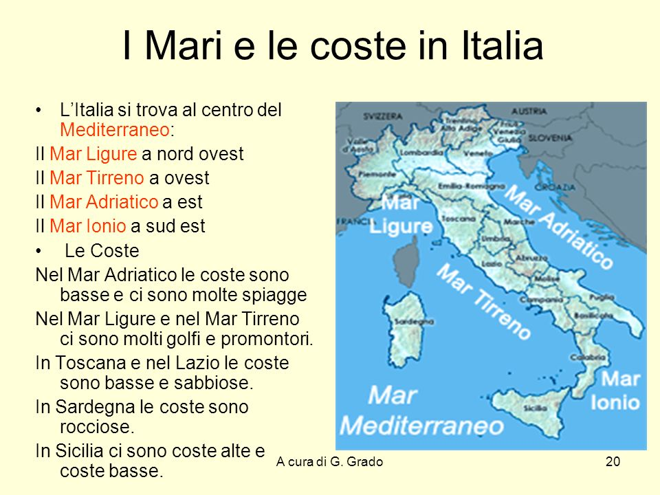 I Mari e le coste in Italia
