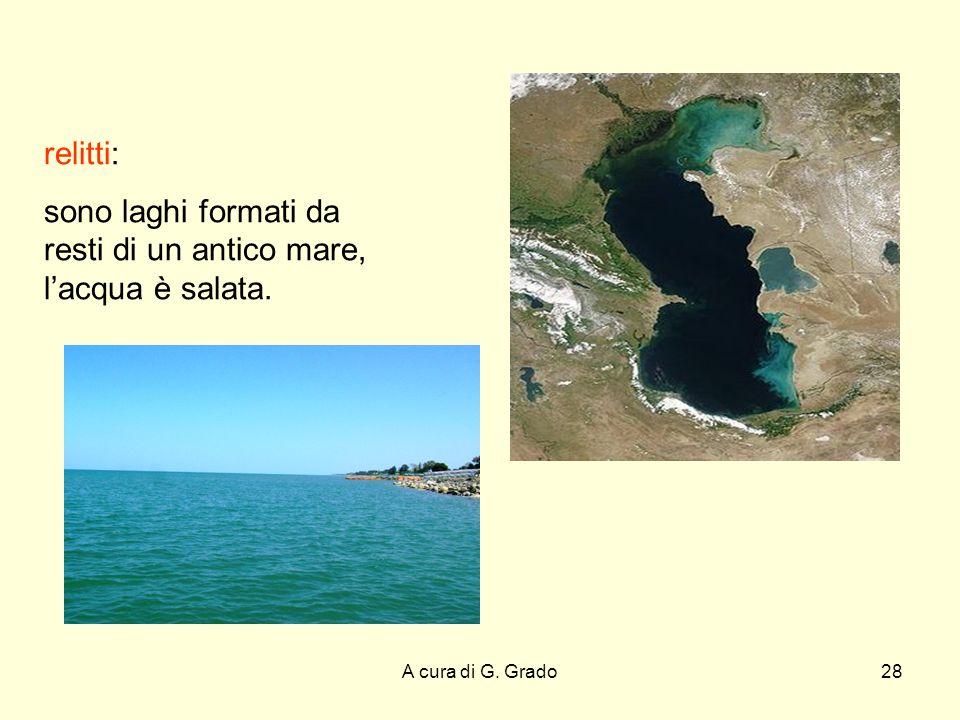 sono laghi formati da resti di un antico mare, l'acqua è salata.