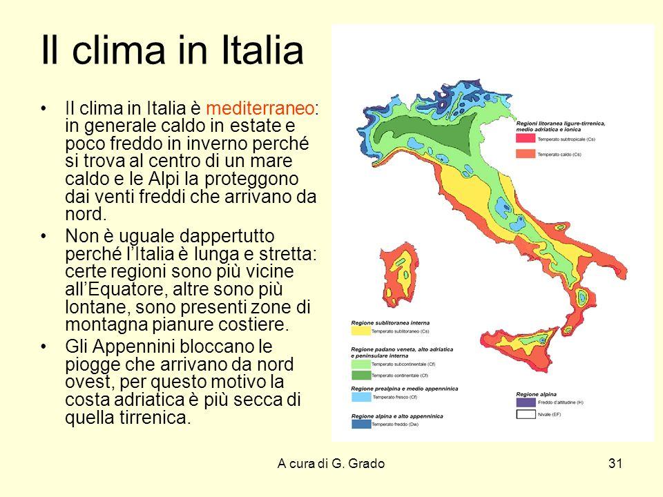 Il clima in Italia