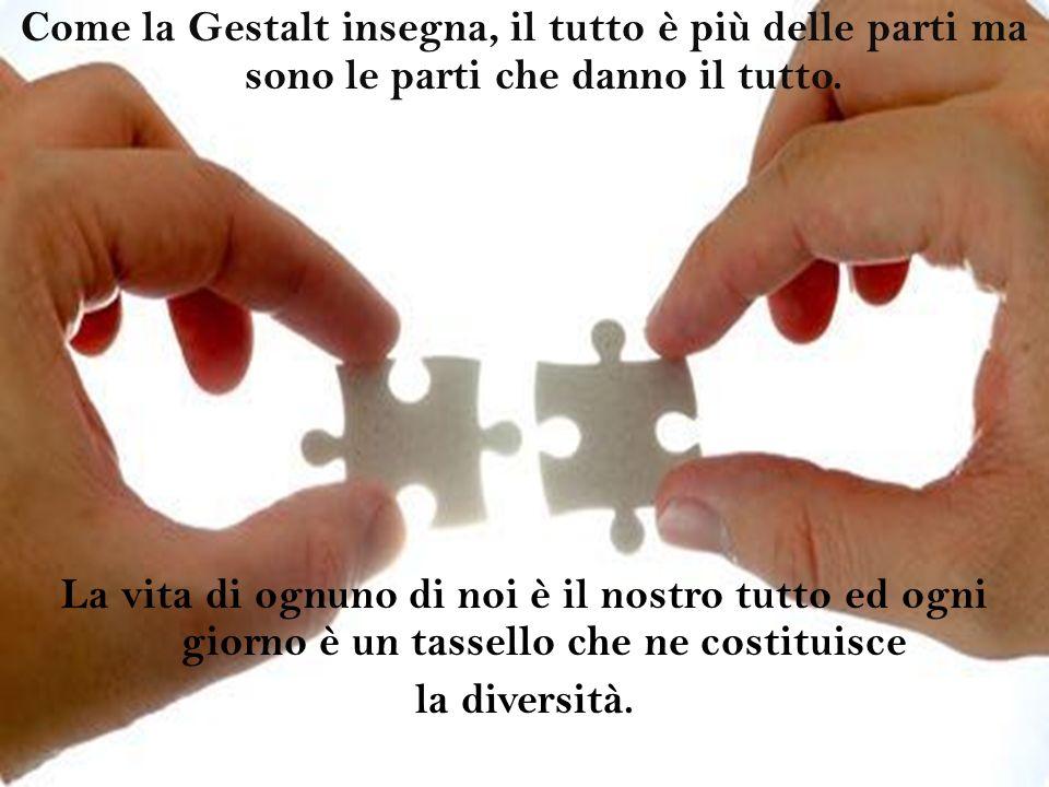 Come la Gestalt insegna, il tutto è più delle parti ma sono le parti che danno il tutto.