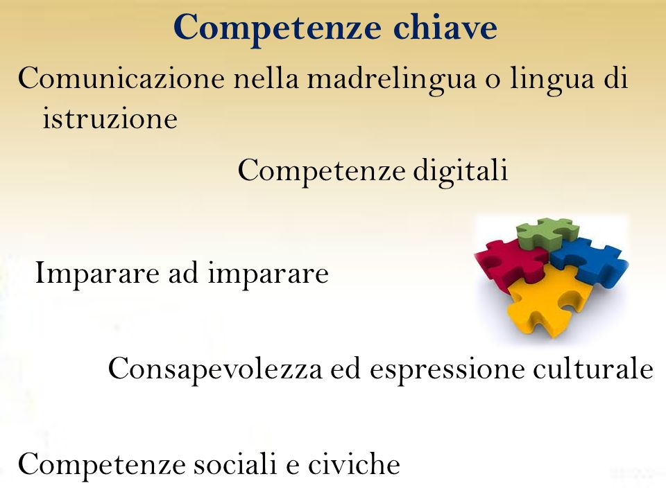 Competenze chiave Competenze digitali