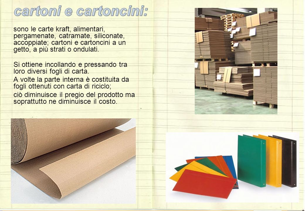 Tipi di carta i tipi di carta che vengono fabbricati sono tanti e ci dipende dal fatto che - Diversi tipi di carta ...