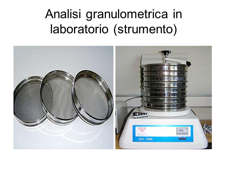 Analisi granulometrica in laboratorio (strumento)