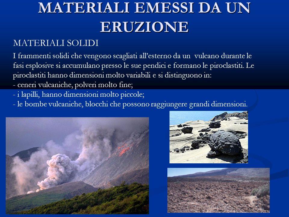 I vulcani che cos un vulcano componenti di un vulcano for Materiali da costruzione che iniziano con i