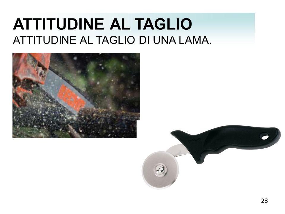 ATTITUDINE AL TAGLIO ATTITUDINE AL TAGLIO DI UNA LAMA. 23 23