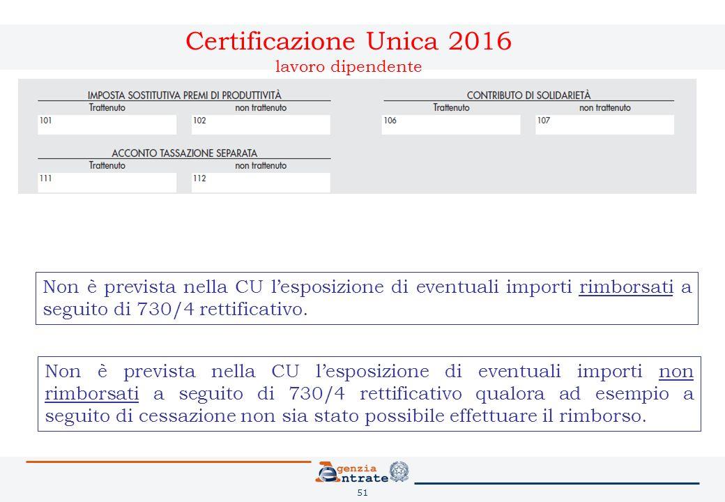 Certificazione unica 2016 e 770 semplificato ppt scaricare for Rimborso 730 non arrivato