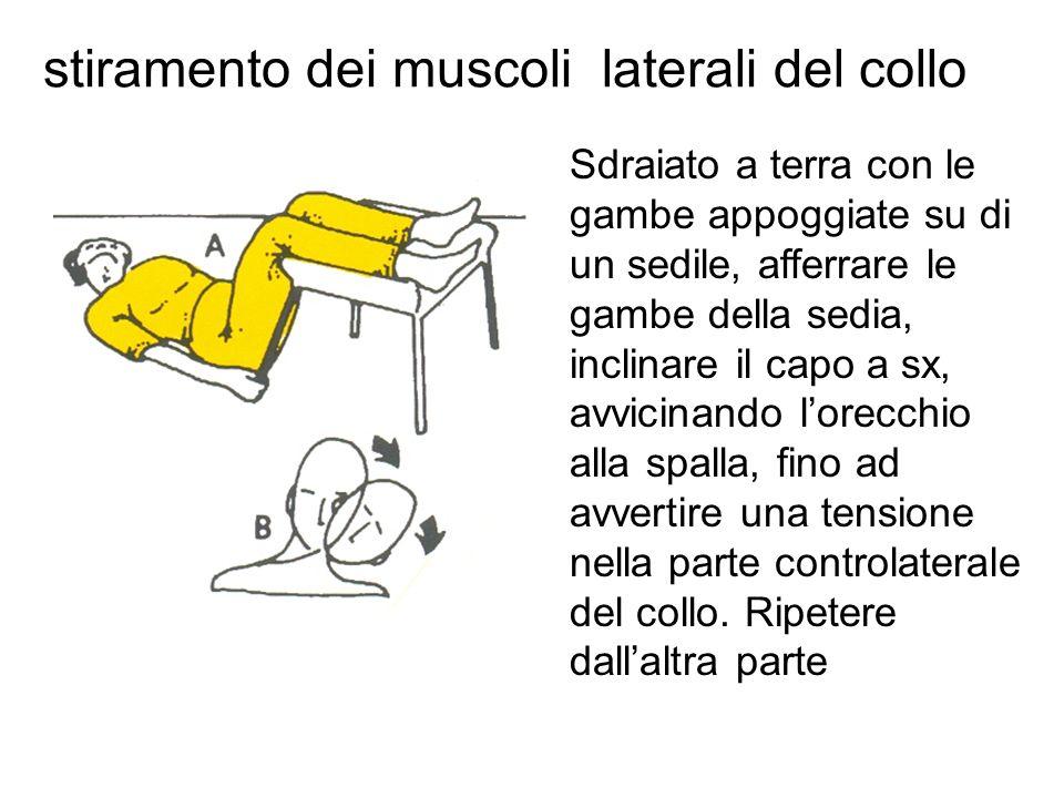 stiramento dei muscoli laterali del collo