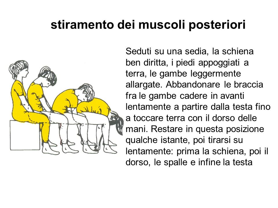 stiramento dei muscoli posteriori