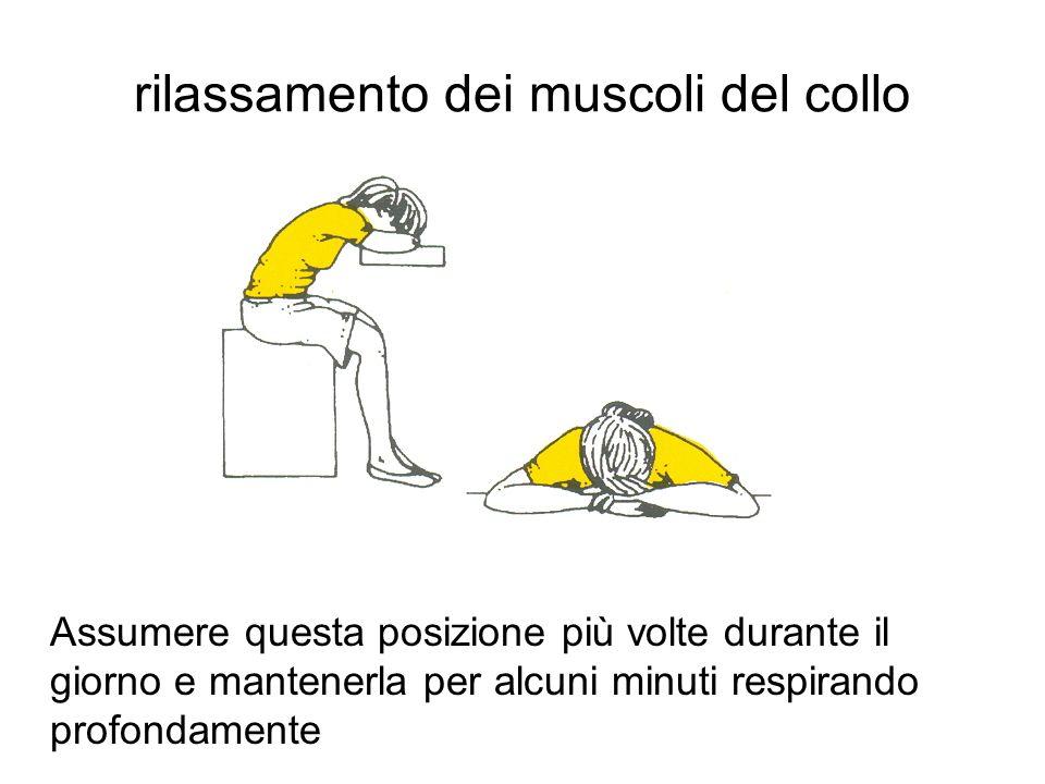 rilassamento dei muscoli del collo