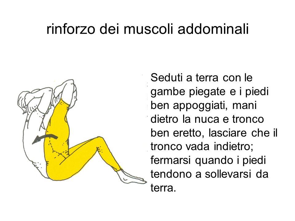 rinforzo dei muscoli addominali