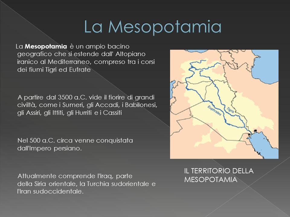La Mesopotamia IL TERRITORIO DELLA MESOPOTAMIA