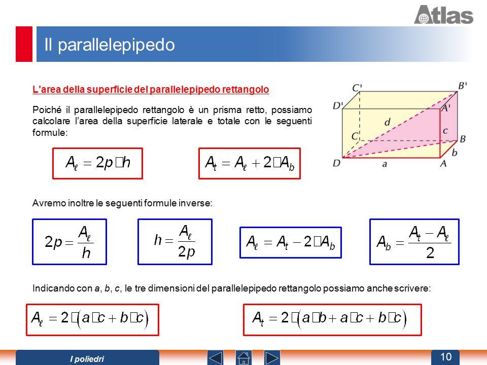Il parallelepipedo L'area della superficie del parallelepipedo rettangolo.