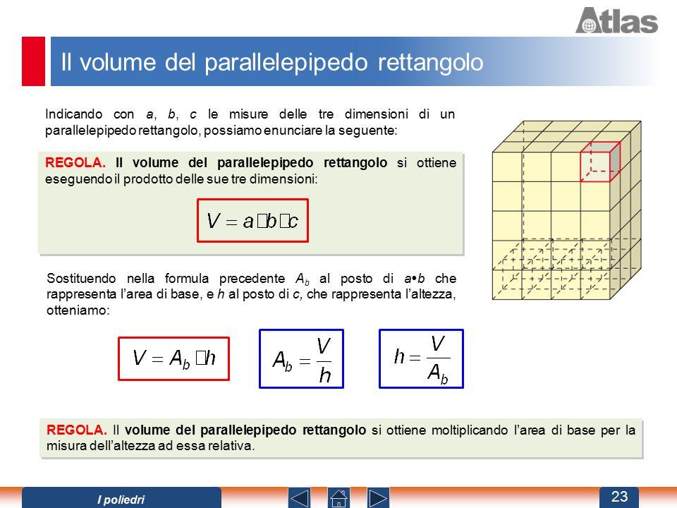 Il volume del parallelepipedo rettangolo