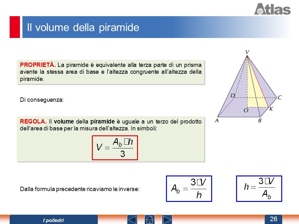 Il volume della piramide