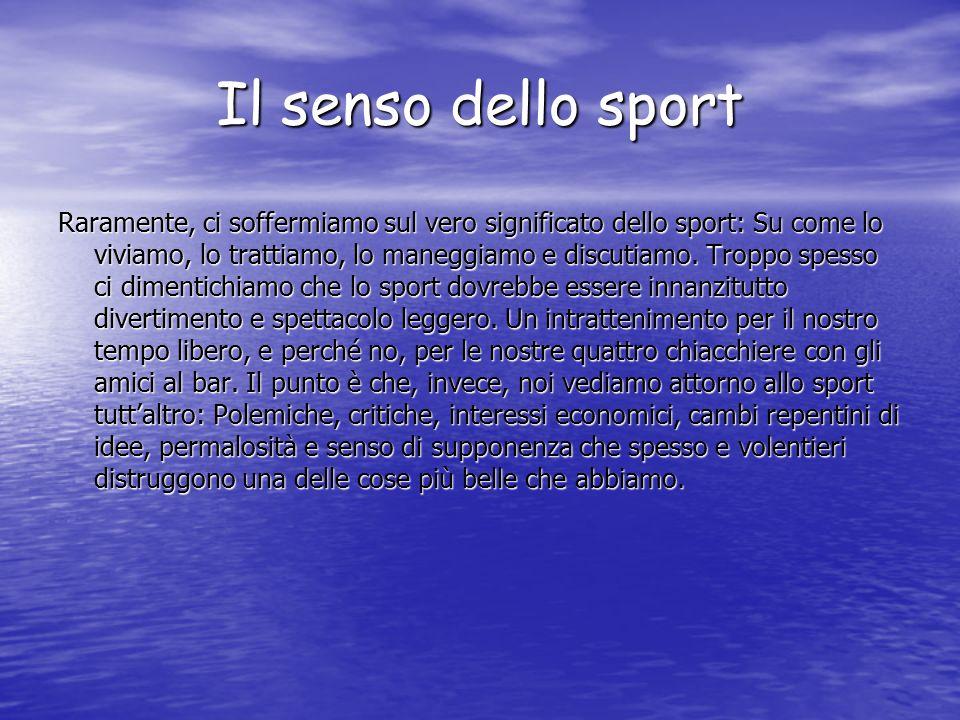 Il senso dello sport