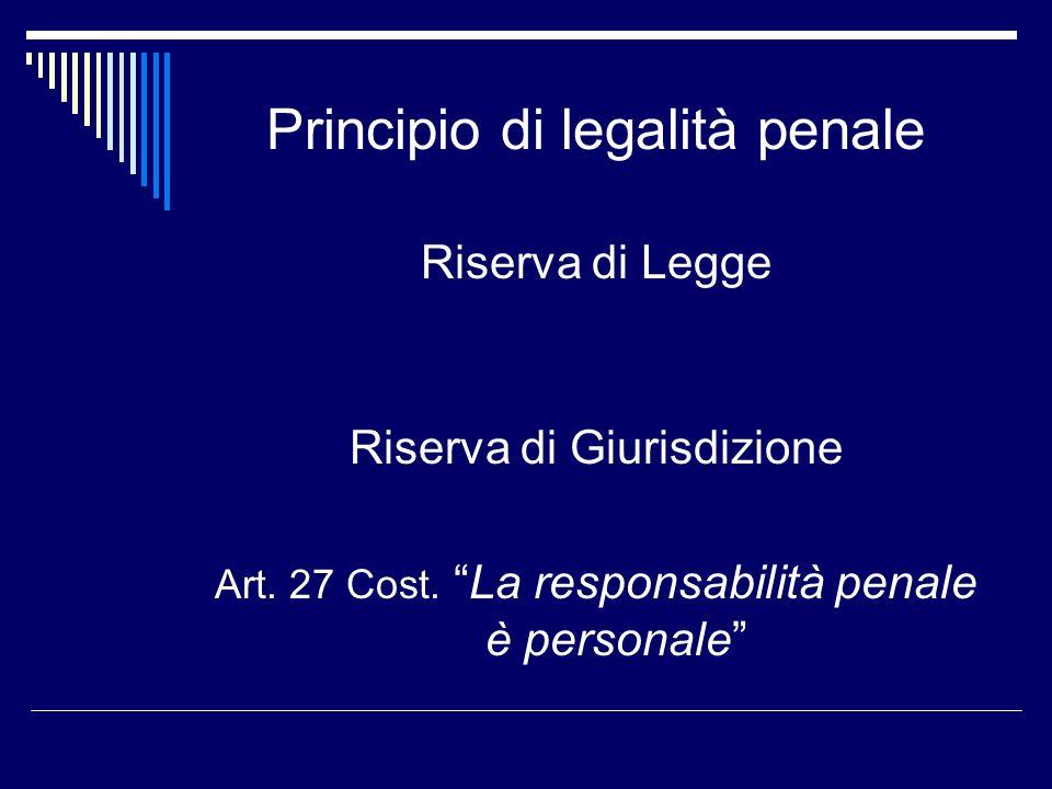 Principio di legalità penale