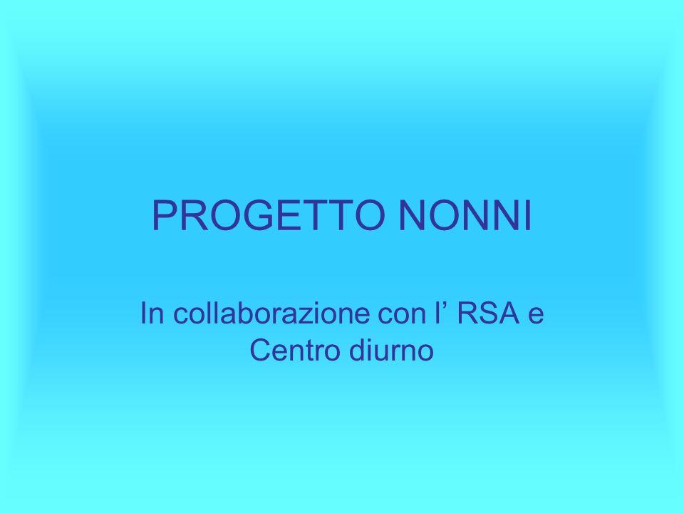 In collaborazione con l' RSA e Centro diurno