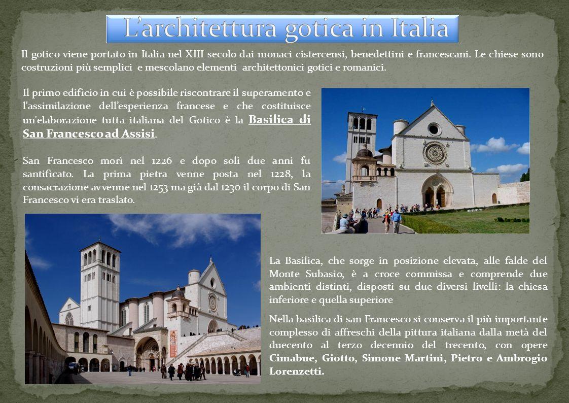 L architettura gotica in italia ppt scaricare for Architettura razionalista in italia