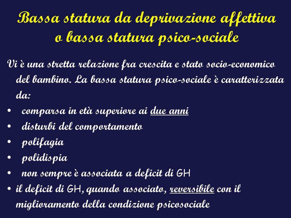 Bassa statura da deprivazione affettiva o bassa statura psico-sociale