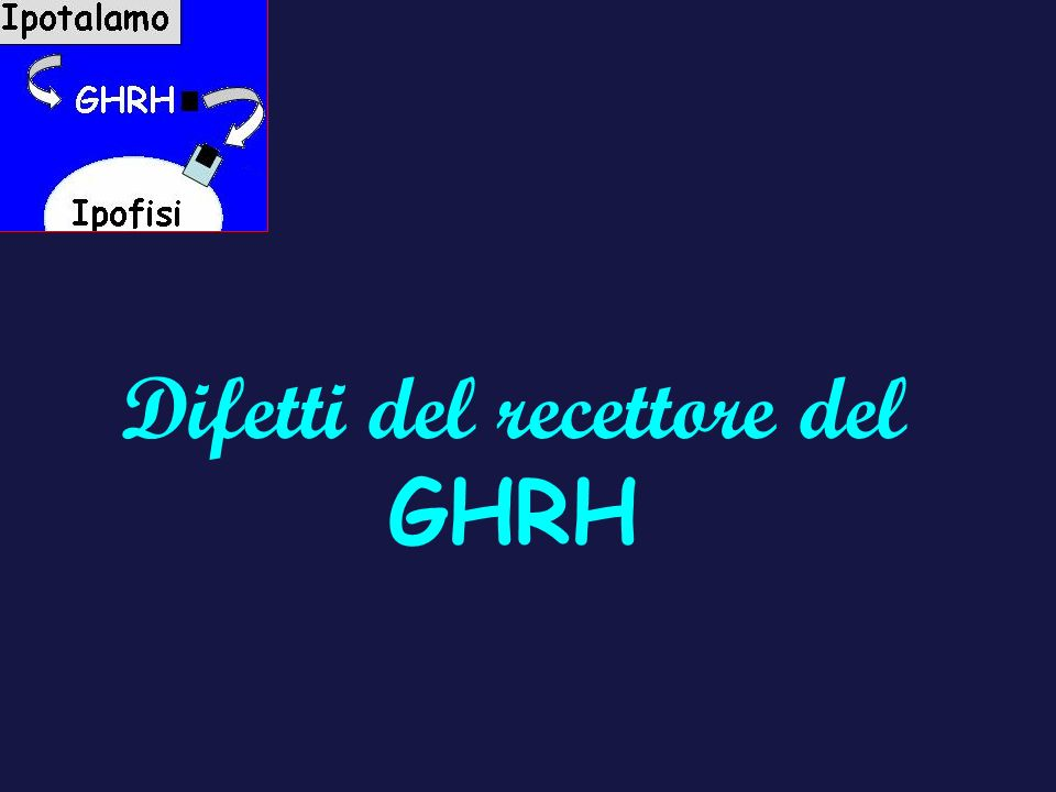 Difetti del recettore del GHRH