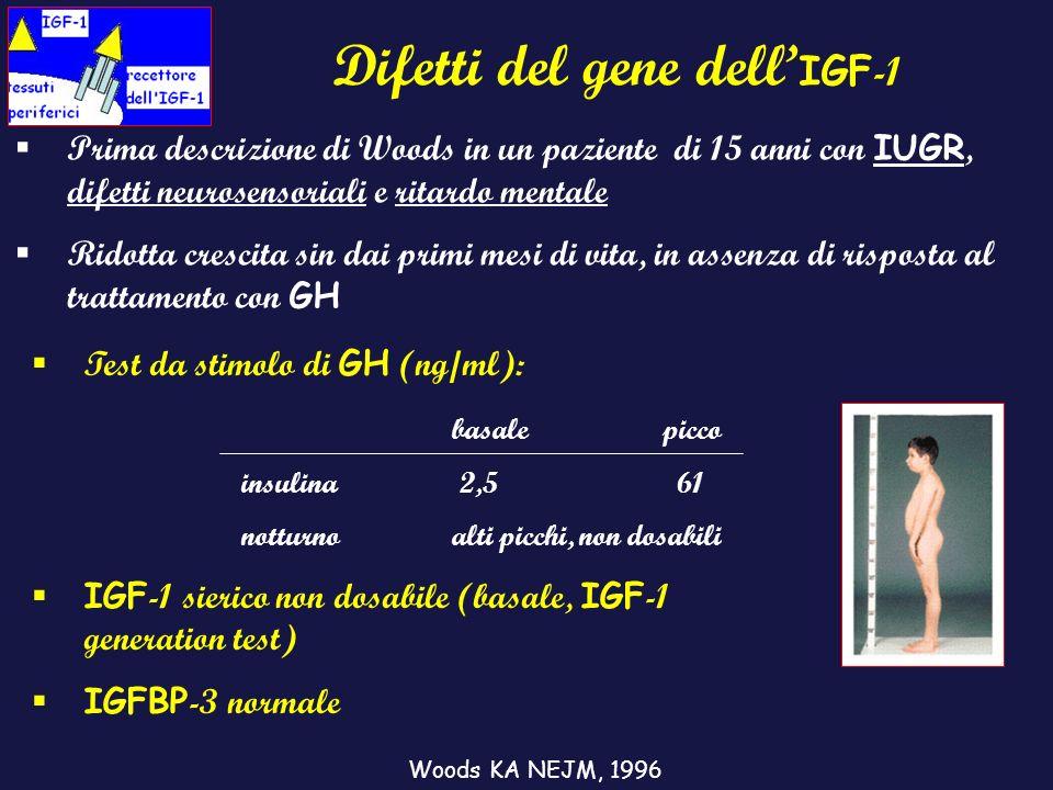 Difetti del gene dell'IGF-1
