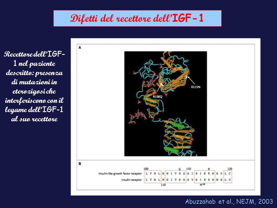 Difetti del recettore dell'IGF-1