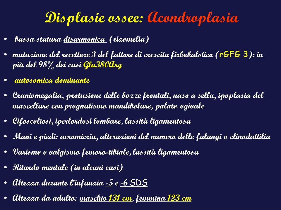Displasie ossee: Acondroplasia