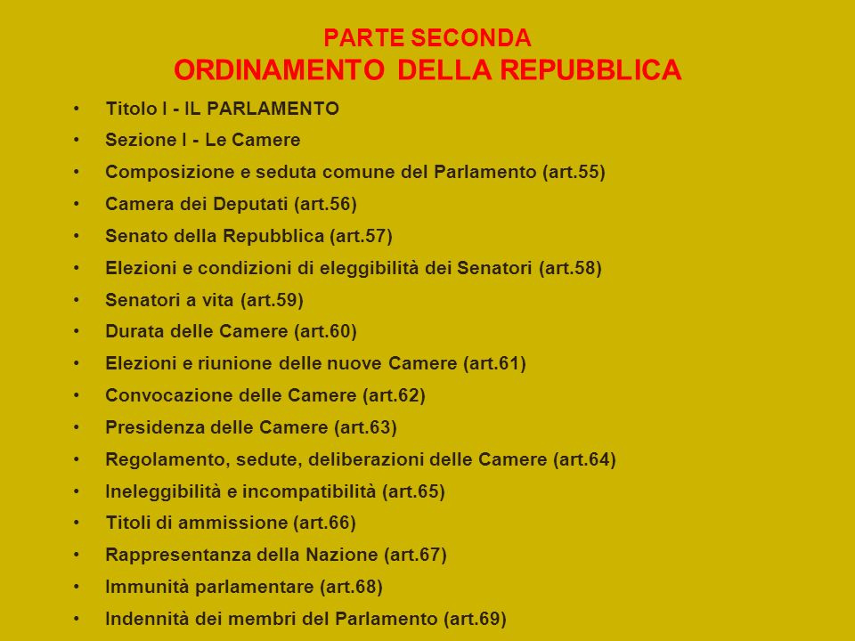 Costituzione italiana ppt video online scaricare for Camera dei deputati on line