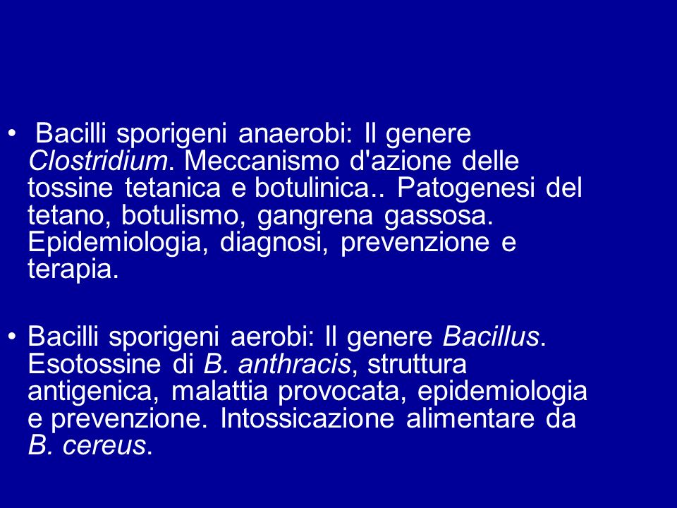 Bacilli sporigeni anaerobi: Il genere Clostridium