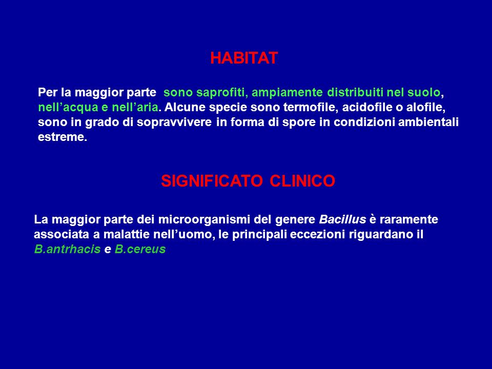 HABITAT SIGNIFICATO CLINICO