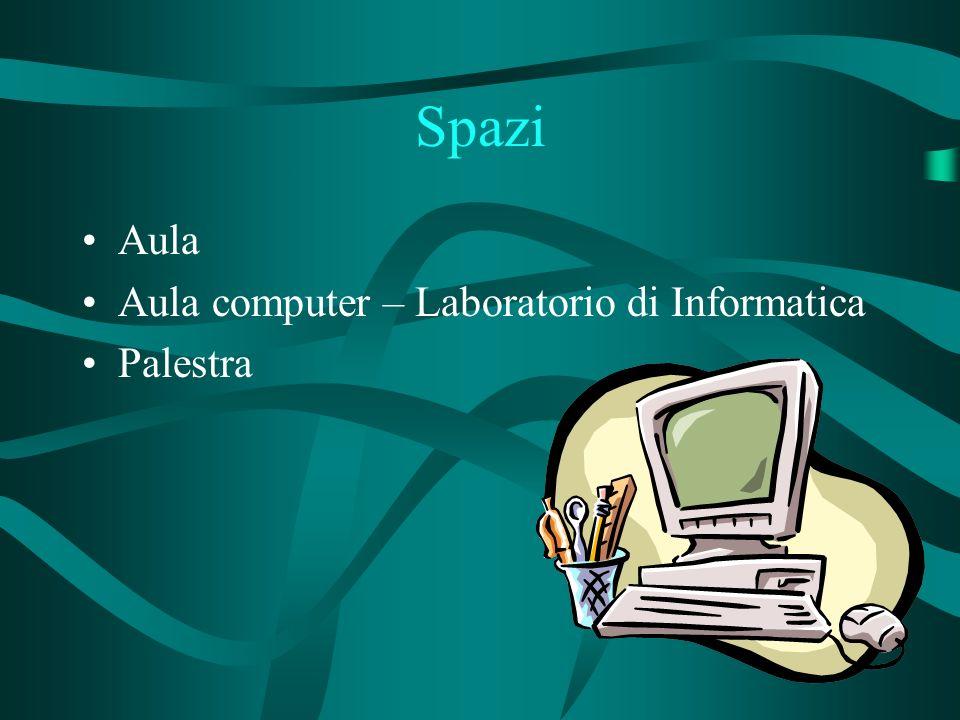 Spazi Aula Aula computer – Laboratorio di Informatica Palestra