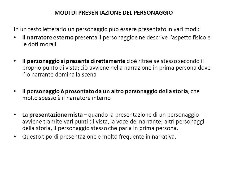 Elementi della caratterizzazione del personaggio pp - Quando scade la presentazione del 730 ...