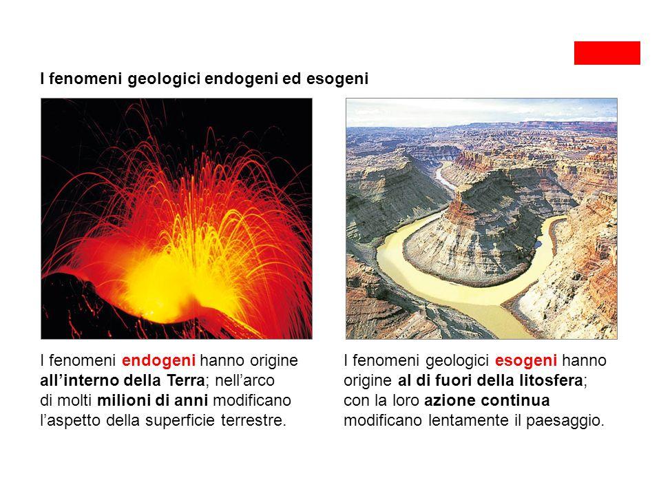 I fenomeni geologici endogeni ed esogeni
