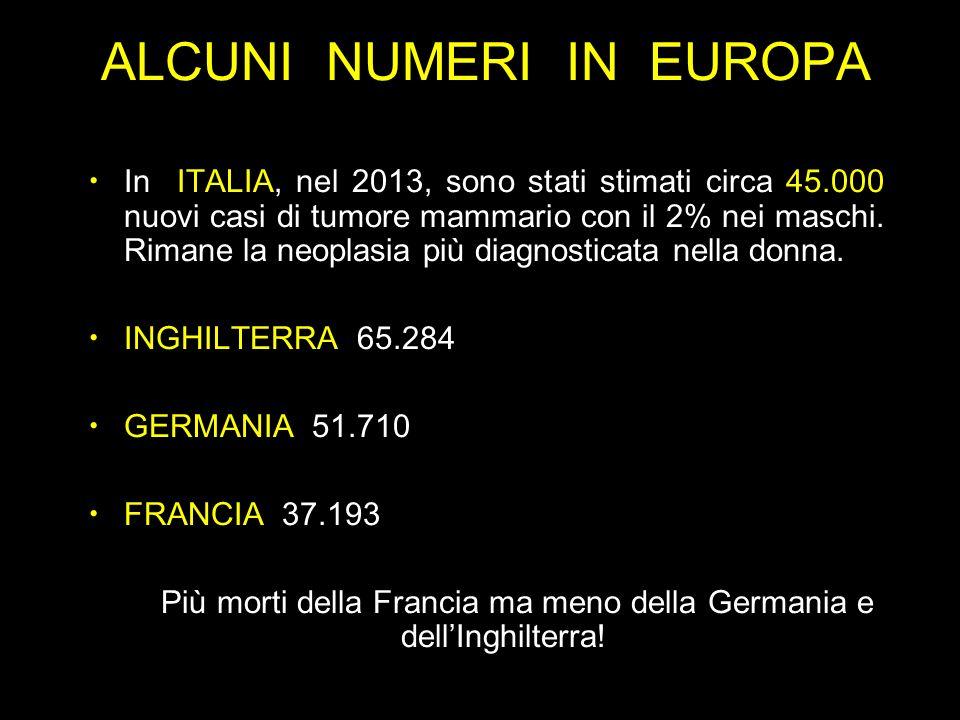 ALCUNI NUMERI IN EUROPA