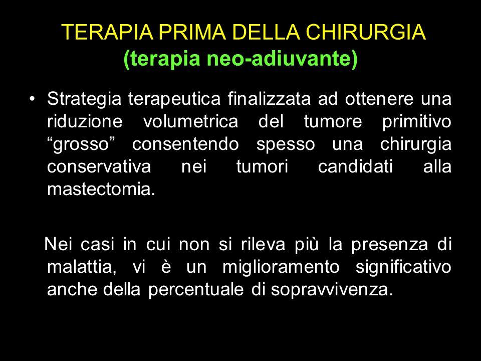 TERAPIA PRIMA DELLA CHIRURGIA (terapia neo-adiuvante)