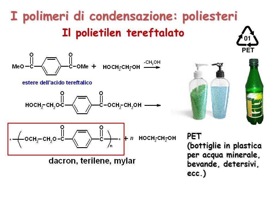 I polimeri di condensazione: poliesteri