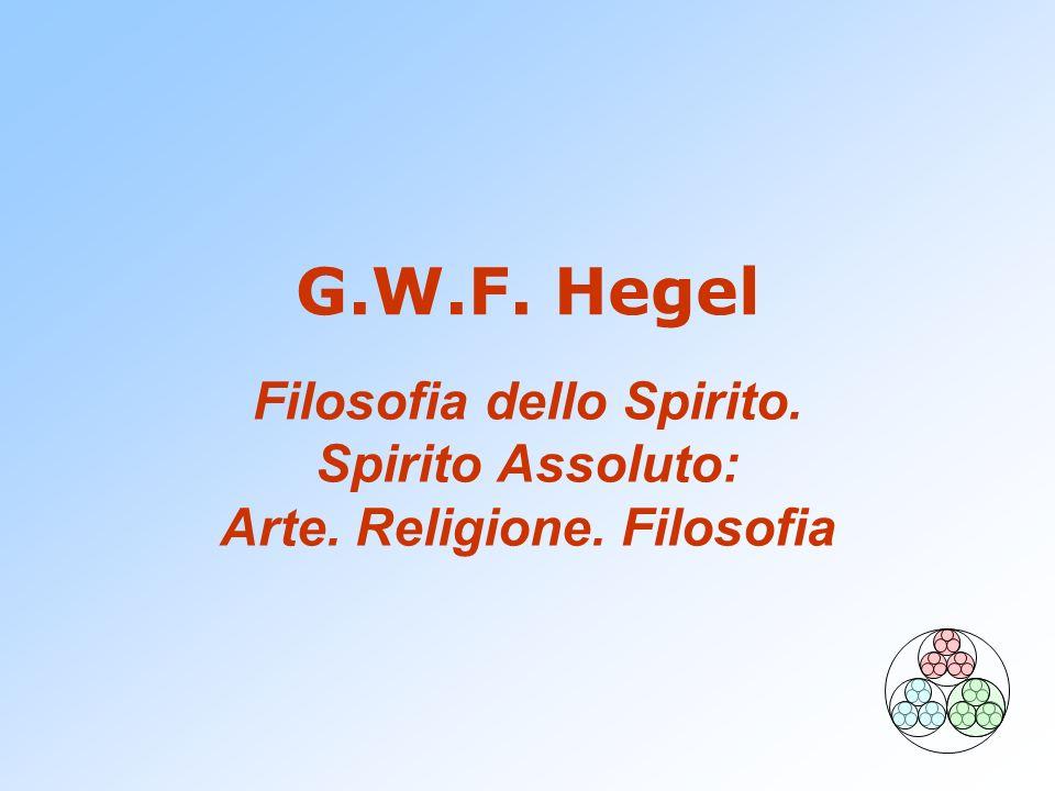 Filosofia dello Spirito. Spirito Assoluto: Arte. Religione. Filosofia