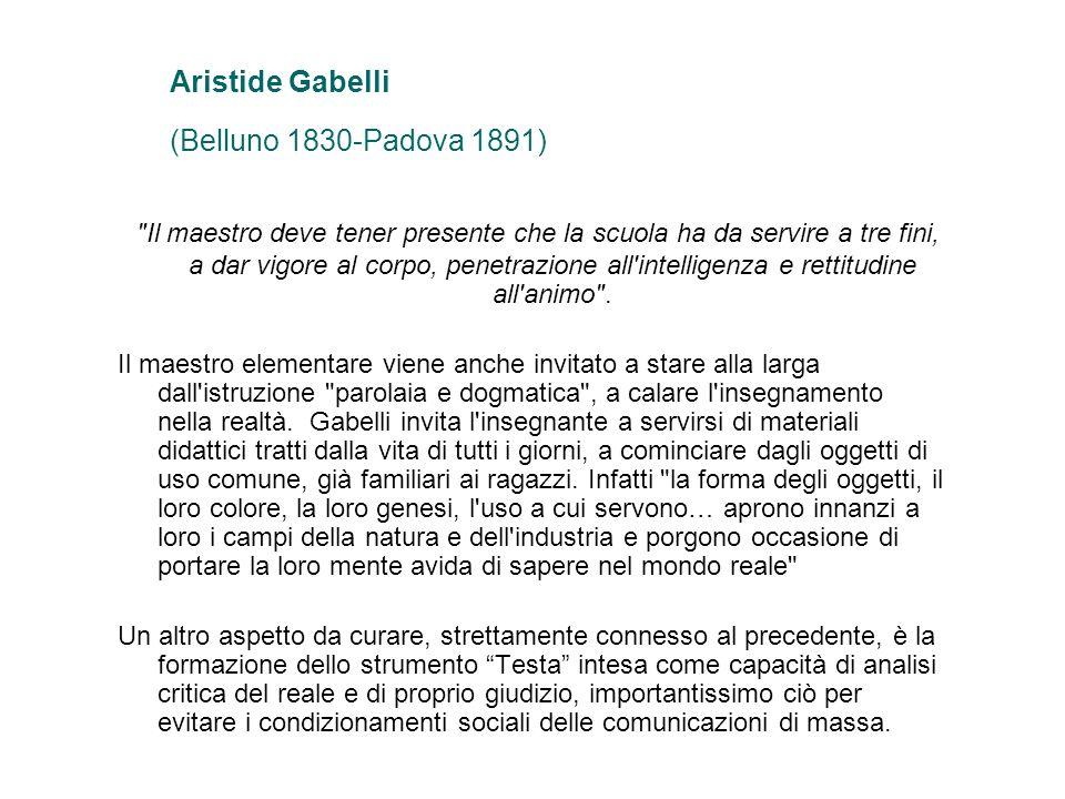 Aristide Gabelli (Belluno 1830-Padova 1891)