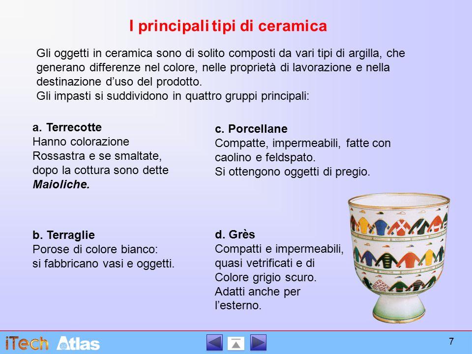 I principali tipi di ceramica