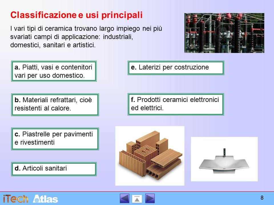 Classificazione e usi principali