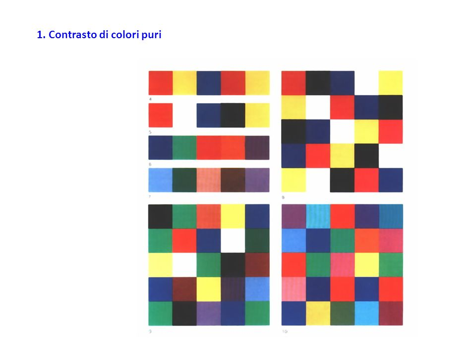 1. Contrasto di colori puri