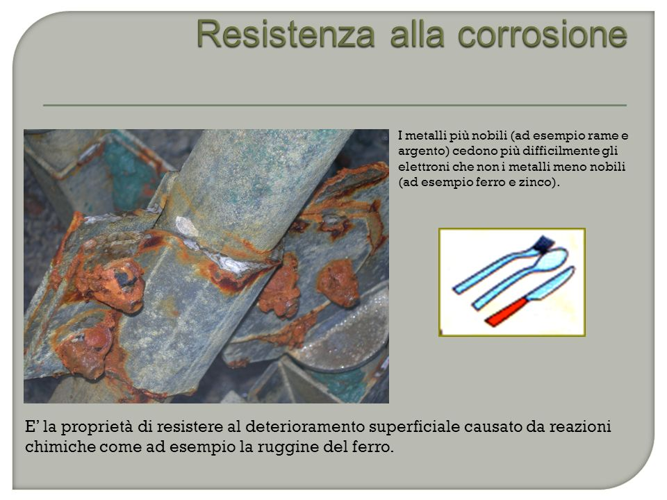 Resistenza alla corrosione